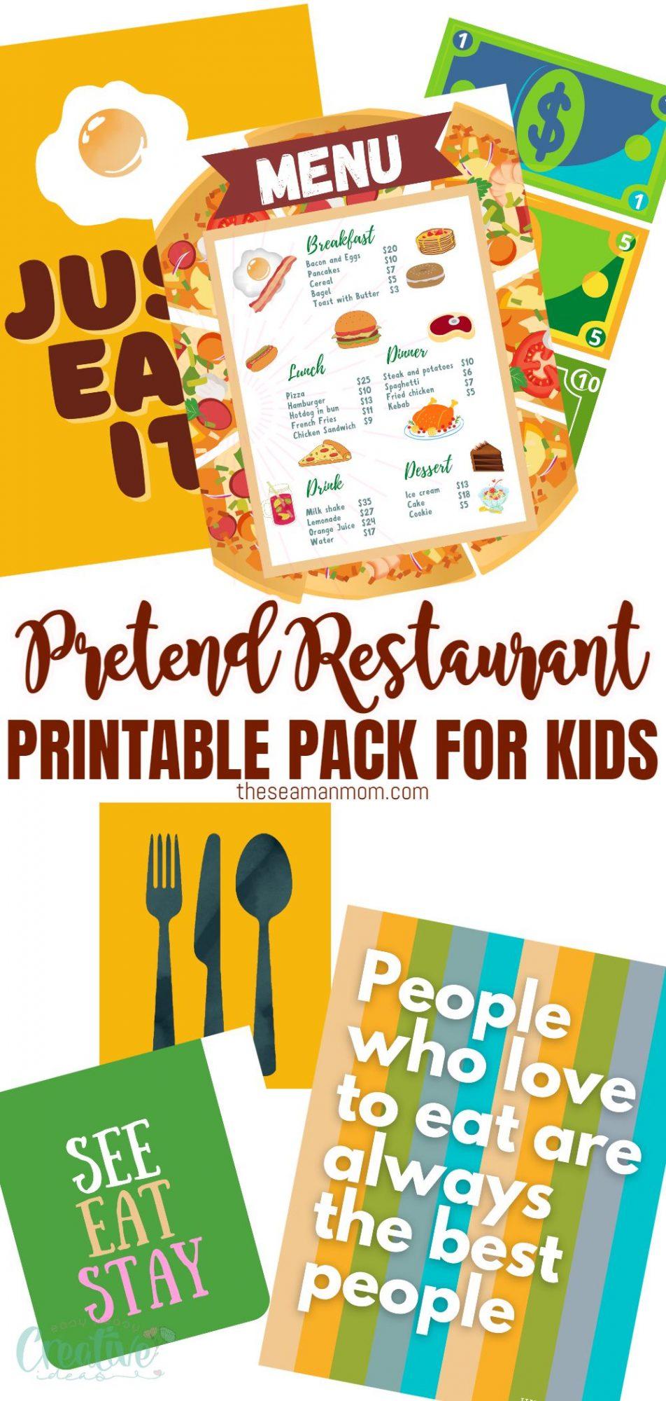 Pretend play restaurant