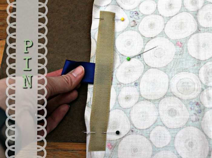 how to make a reusable snack bag pinning the velcro