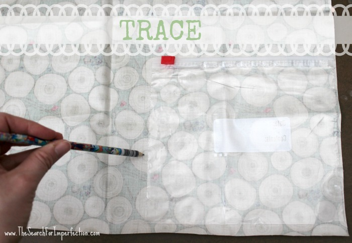 how to make a reusable bag the tracing part