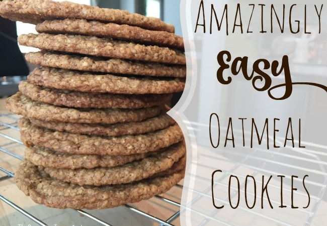 Amazingly Easy Oatmeal Cookies