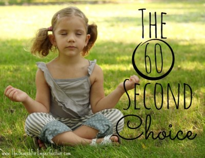 A Parent Has 60 Seconds to Chose Something to Accomplish