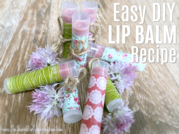 Easy Homemade DIY Lip Balm