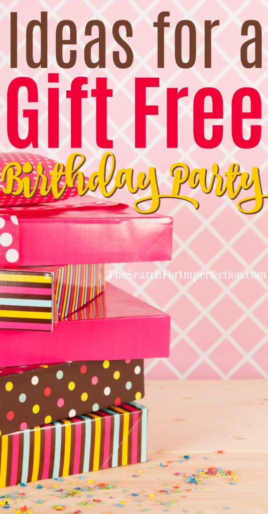 Ideas for a Gift Free Birthday Party - Have you ever thought about throwing a party and asking for donations instead of gifts?