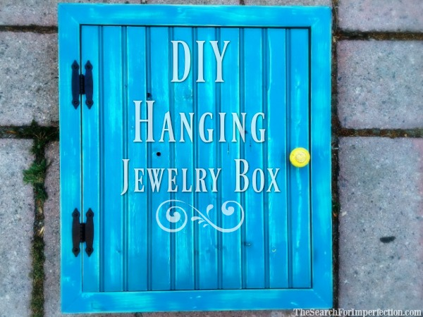 DIY Hanging Jewelry Box
