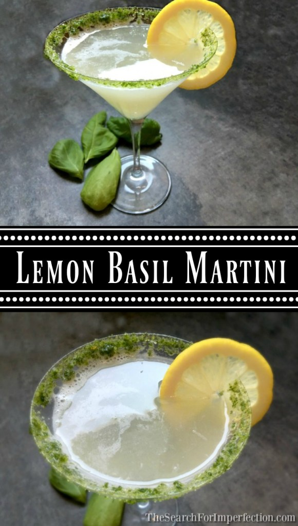 Lemon Basil Martini, So Easy and Delicious!
