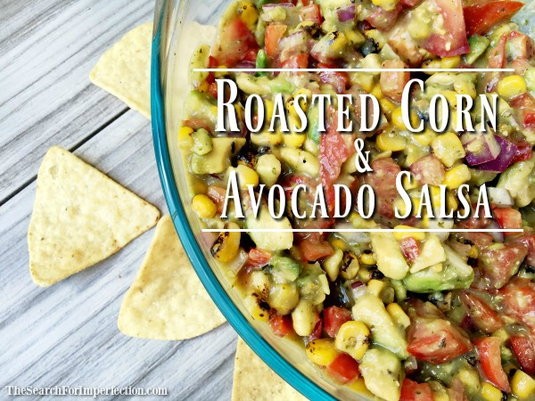 Super Simple Roasted Corn and Avocado Salsa