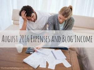 August 2016 Expenses and Blog Income
