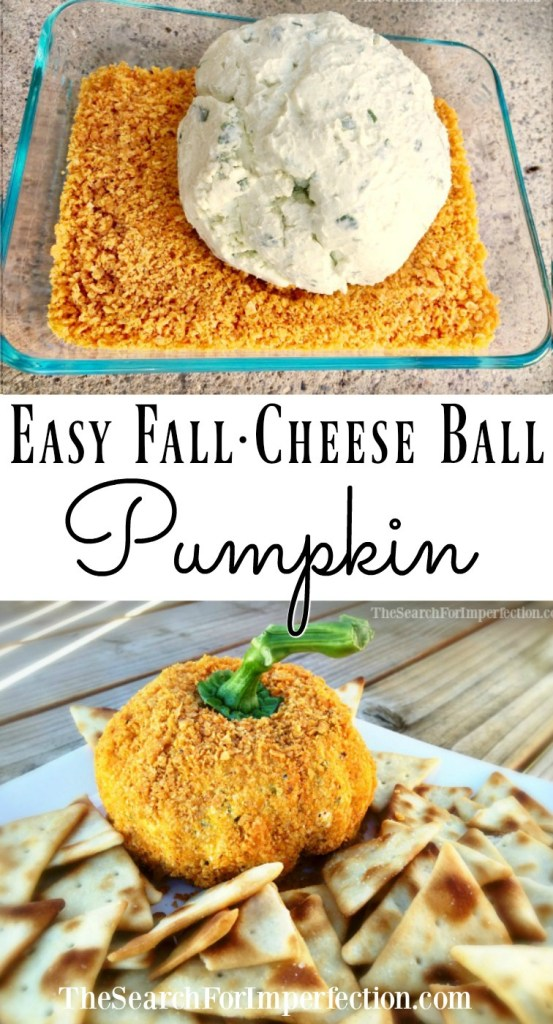 This super easy Fall Pumpkin Cheese Ball will be the hit at your next fall party.