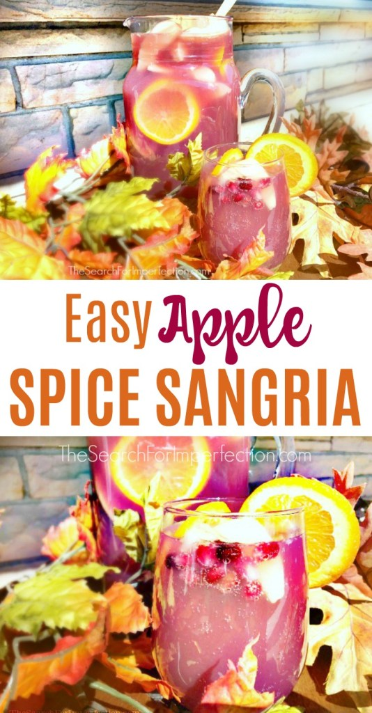 Apple Spice Sangria is the PERFECT fall cocktail!!!