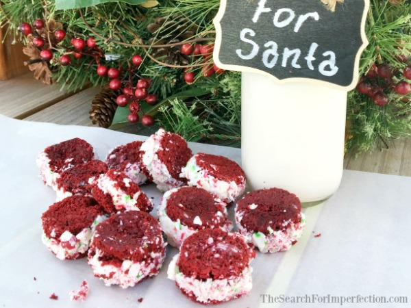 Red Velvet Peppermint Christmas Cookies