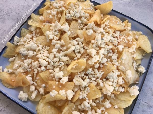 Top Chips with Blue Cheese