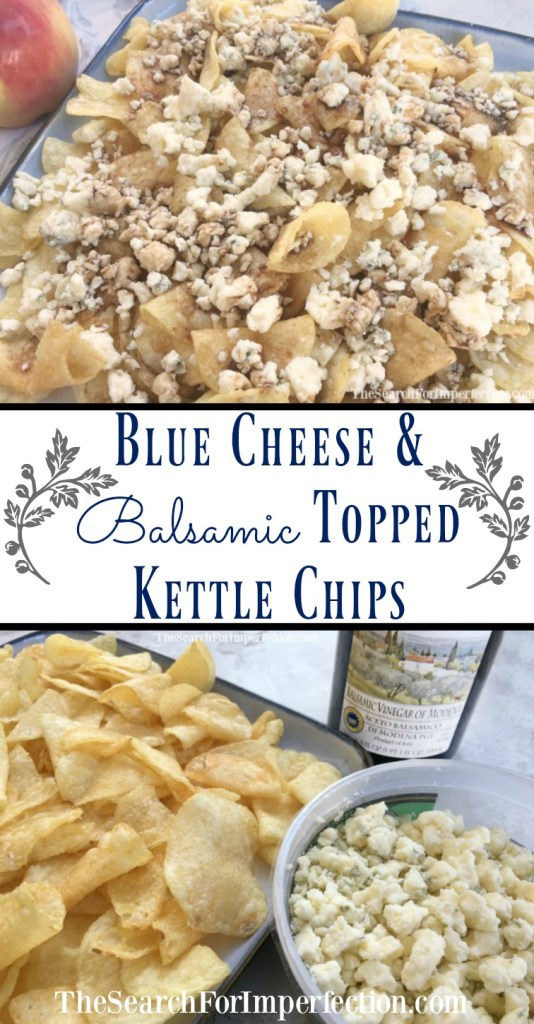 Blue Cheese and Balsamic Topped Kettle Chips are so quick and easy to throw together for a party.