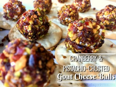 Cranberry and Pistachio Crusted Goat Cheese Balls