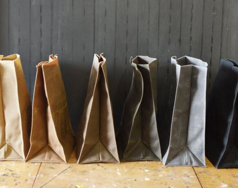 Oiled Canvas Lunch Totes