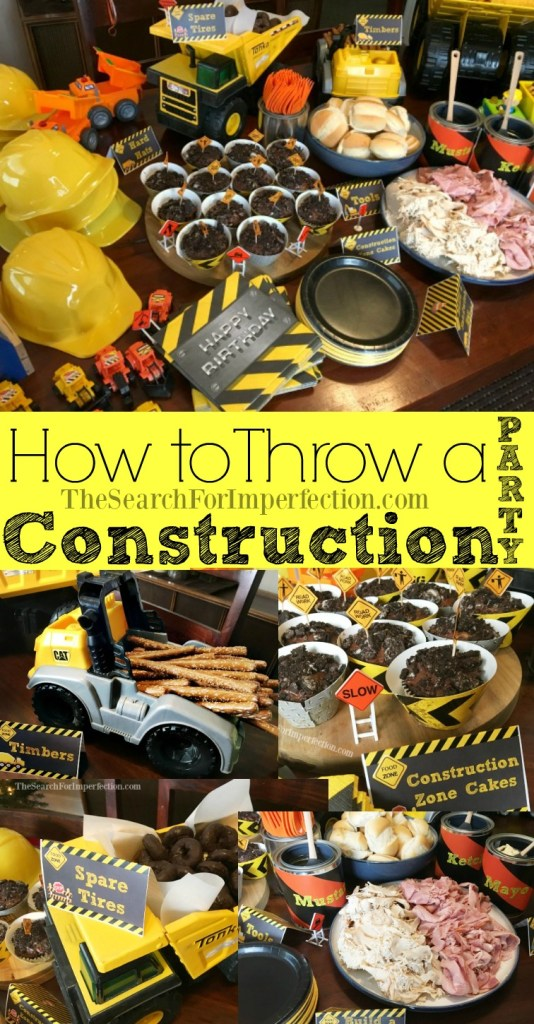 This cute construction themed birthday party is so easy to throw together, I pulled it off with only a few days prep!