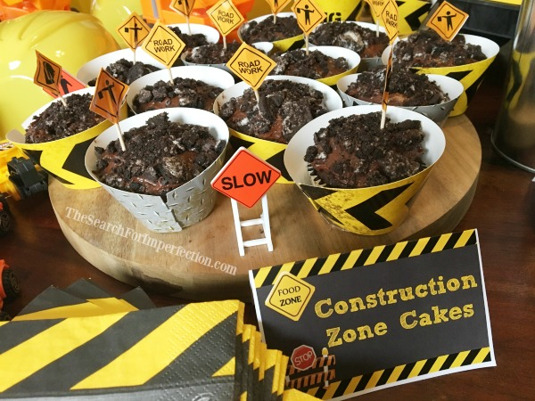 Construction Birthday Party Cupcakes