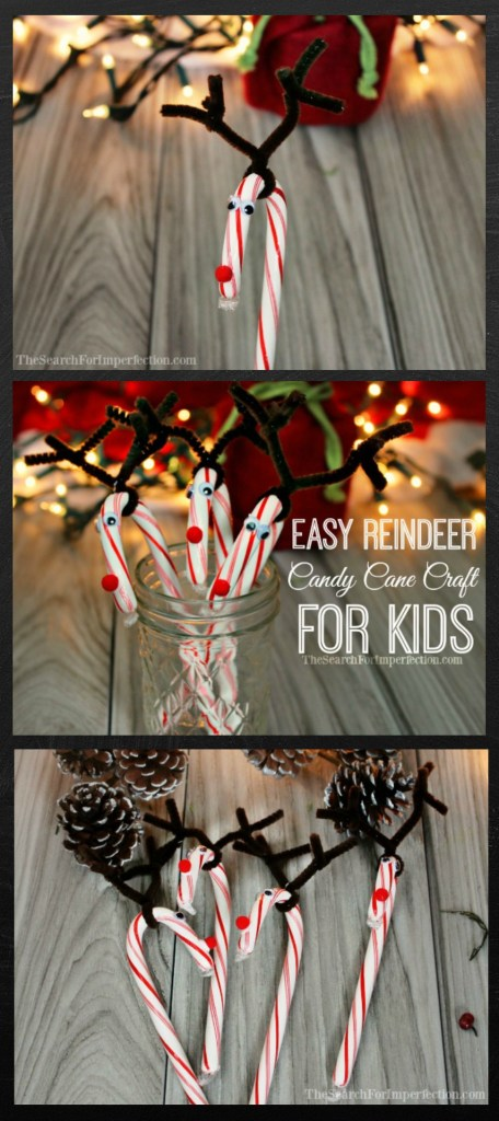 Easy Reindeer Candy Cane Craft for Kids