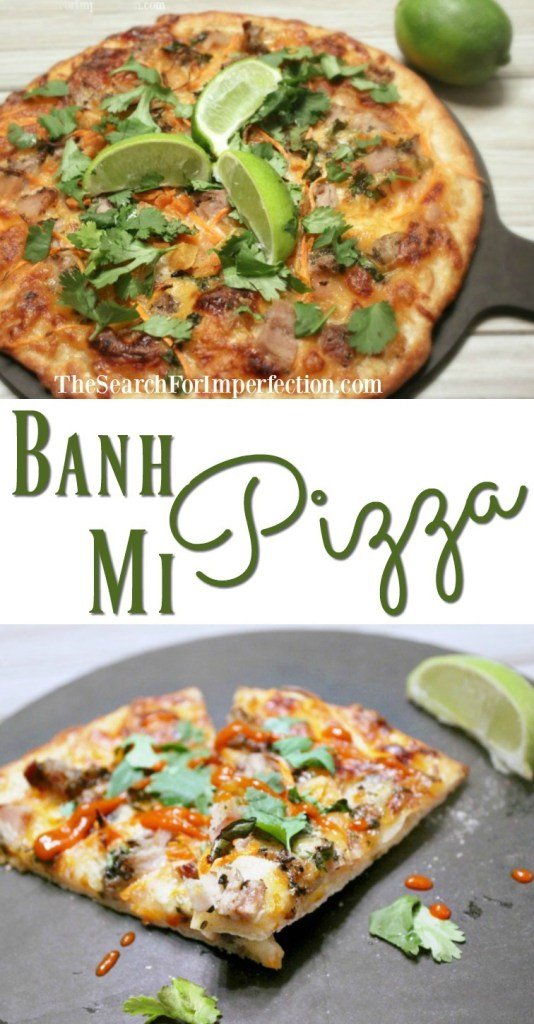 I'm so in love with the flavors of a Banh Mi sandwich, and this pizza takes it to a whole other level!