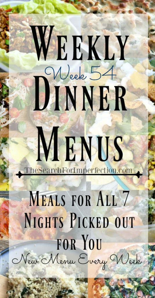 This week's dinner plan includes lots of yummy dishes!