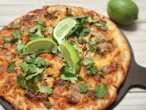 Fresh out of the oven, banh mi pizza