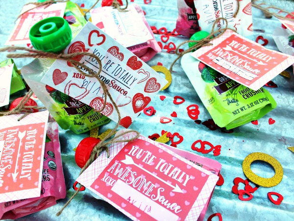 You're Totally AwesomeSauce – Cute Kids Valentine with Free Printable