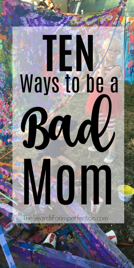 Ever wonder if what you're doing makes you a bad mom? Here's a little reassurance that we're all in the same boat!