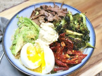 Steak and Egg Buddha Bowl