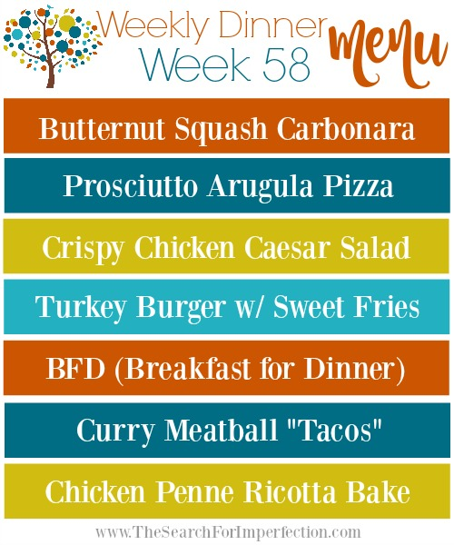 Weekly Meal Plan #58