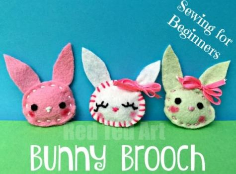 Felt Bunny Broaches