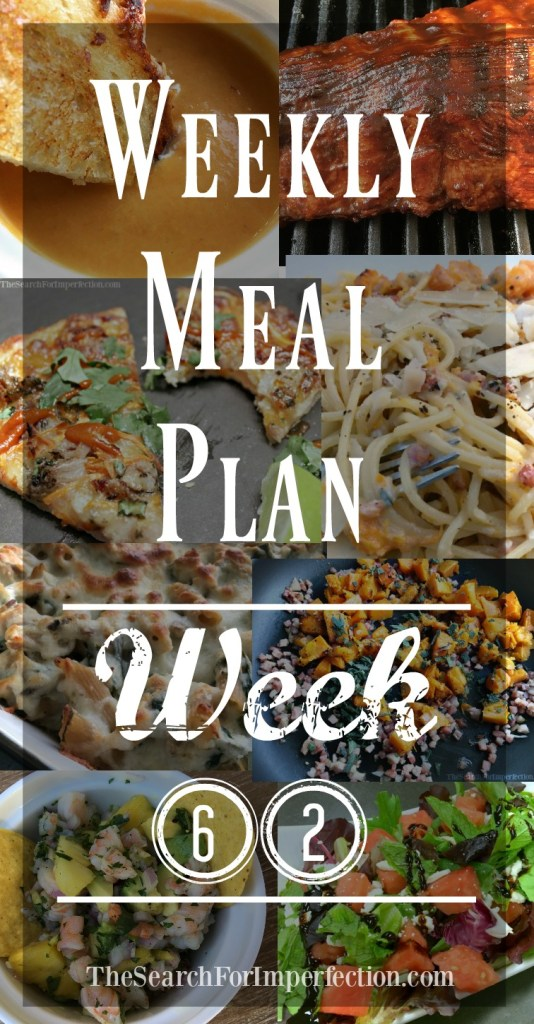 Weekly Meal Plan for the week of April 22nd!