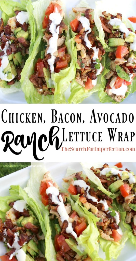 It's like a BLTA in lettuce wrap form, topped with ranch dressing. So delicious!