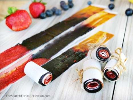 Berry Banana Fruit Roll Ups