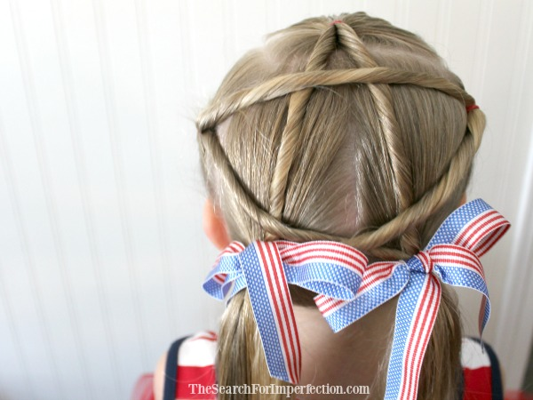 How to Do Patriotic Star Hair in Under 8 Minutes – Hairstyles for Girls