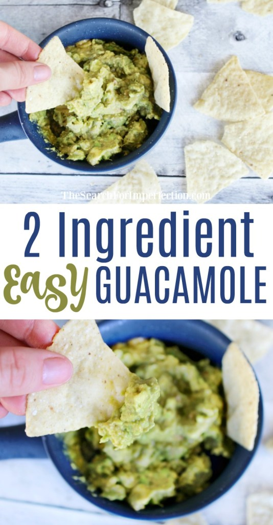 Craving Easy Guacamole in a hurry? Try this 2 ingredient guac!