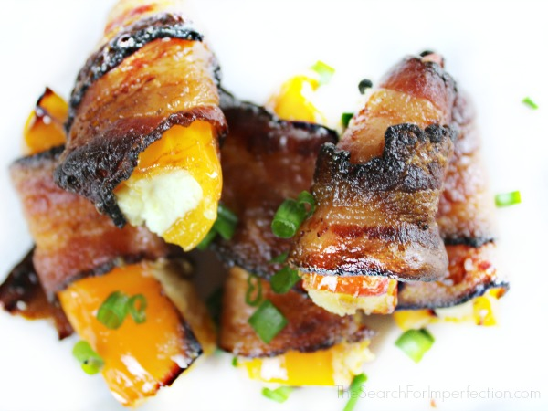 Bacon Wrapped Sweet Pepper Poppers