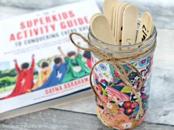 Decoupage conversation jar