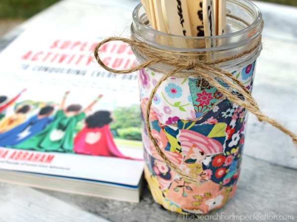 Scrapbook decoupage conversation jar
