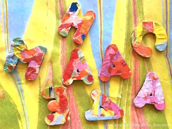 DIY Decoupage Wooden Letter Magnets – An Easy Craft Project for All Ages