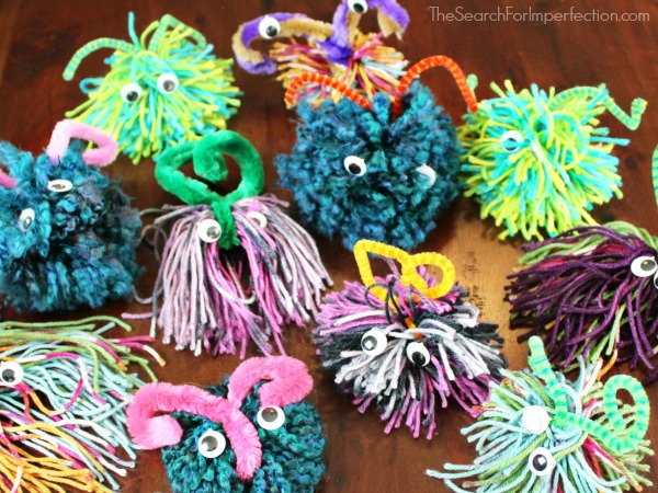 DIY Yarn Monsters – Fun and Easy Kids Craft