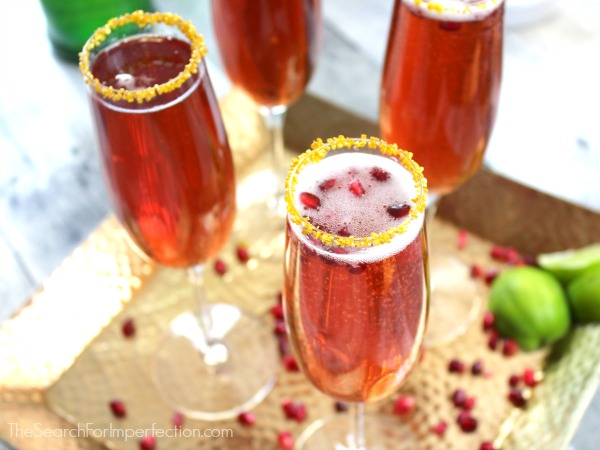 Pomegranate Ginger Champagne