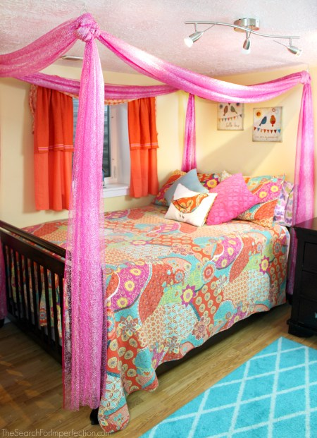 DIY Princess Canopy Bed