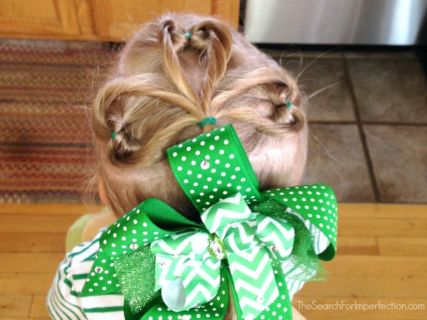 St. Patrick's Day Shamrock Hair Tutorial – Girl's Hairstyle in Under 10 Minutes