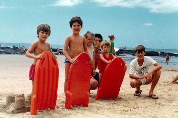 These plastic body boards or Boogie Boards as they were popularly known were a feature of this holiday and accompanied us back to Harare where we pulled them down the garden slope tied to the back of BMX bikes in lieu of ocean waves.