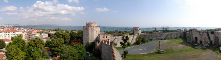 Yedikule or the Seven towers stand a little inland from Mermekule and house the ancient Golden Gate through which the Byzantine emperors would re-enter the city after successful campaigns. It was later filled in but the outline remains.