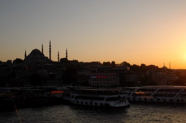 As seen from a ferry looking towards Topkapi Palace.