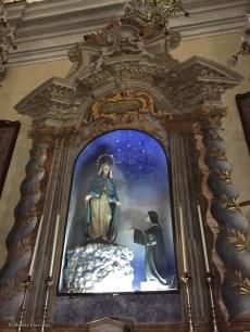 In Parrocchia Santissimo Nome Di Gesu', a trompe l'oeil frame...