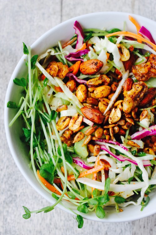 Summer Slaw with Spicy Nuts & Seeds