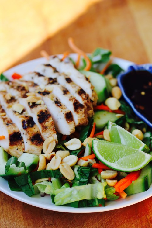 Lemongrass Grilled Chicken with Bok Choy Cilantro Slaw