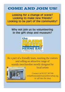 Join the volunteer team - meet new people, learn more about the town