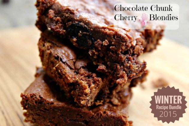 Chocolate Chunk Cherry Blondies.